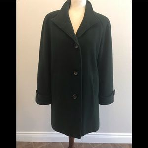 Brown London Fog Wool Coat